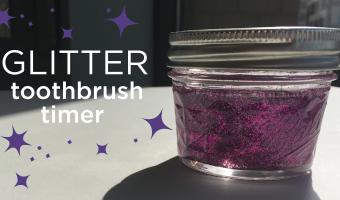 DIY: Glitter Toothbrush Timer Makes Brushing Fun